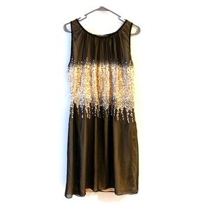 M60 Miss Sixty black and Gold sequin mini dress
